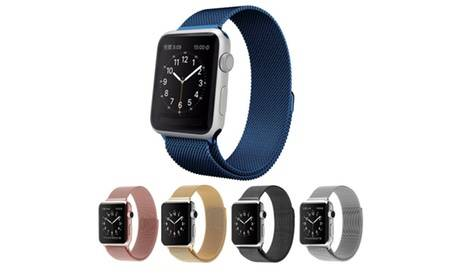 Groupon Goods Global GmbH Stainless Steel Strap for Apple Watch in Choice of Colour