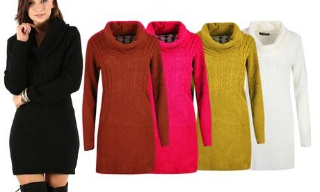 Groupon Goods Global GmbH Oops Knitted Oversized Bodycon Jumper