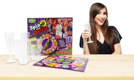Groupon Goods Global GmbH PMS International Drinkers Edition Spin the Bottle Game 10x10 Board
