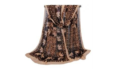 Groupon Goods Global GmbH One, Two or Four Elephant Chiffon Scarves