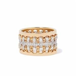 Annoushka Crown Double Diamond Ring Stack in 18ct Mixed Golds