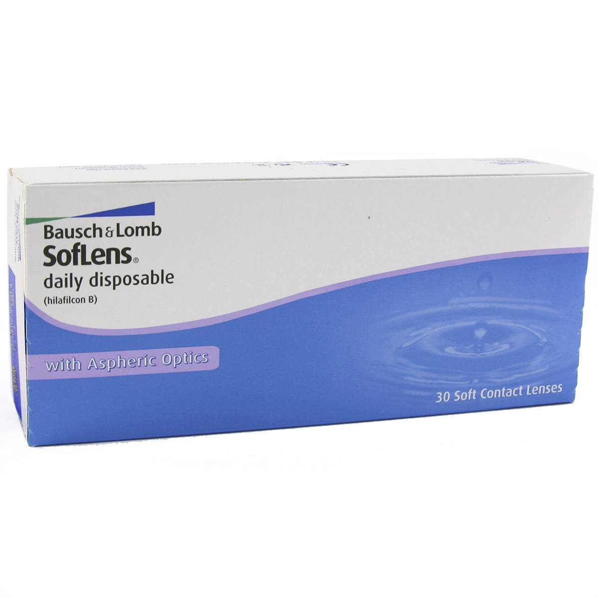Bausch & Lomb Soflens Daily Disposable (30 Contact Lenses), Bausch & Lomb Daily Disposables, Hilafilcon B