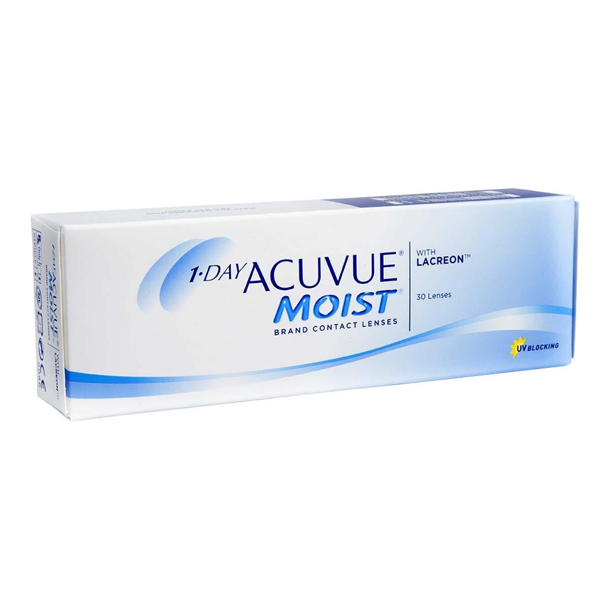 Acuvue 1 Day Acuvue Moist (30 Contact Lenses), Acuvue by Johnson & Johnson, Daily Disposable, Etafilcon A