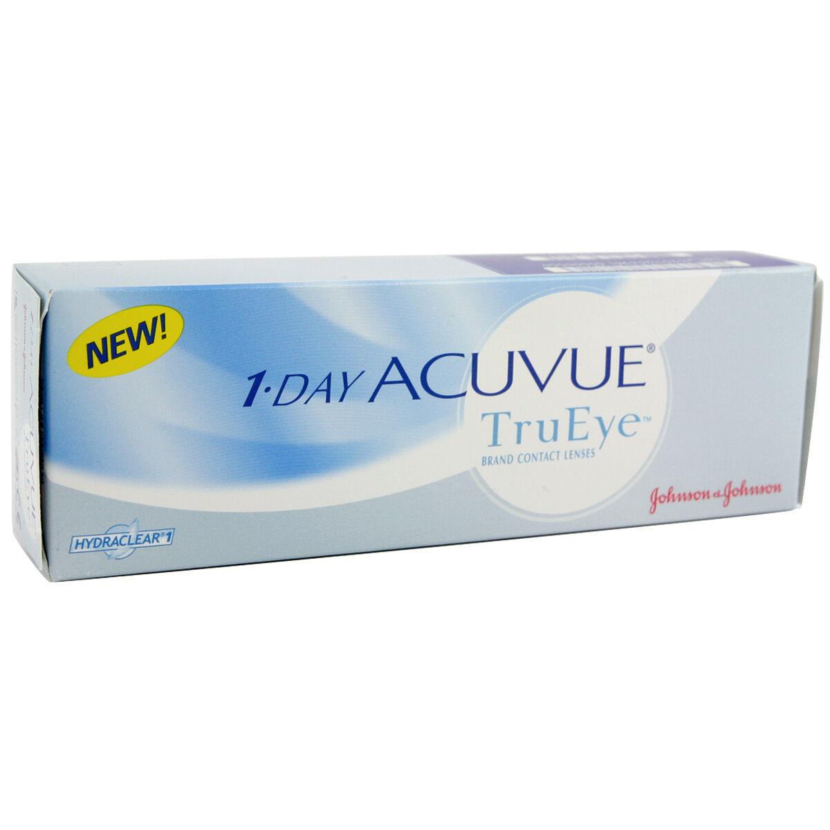 Acuvue 1 Day Acuvue Trueye (30 Contact Lenses), Johnson & Johnson Daily Lenses, Narafilcon A