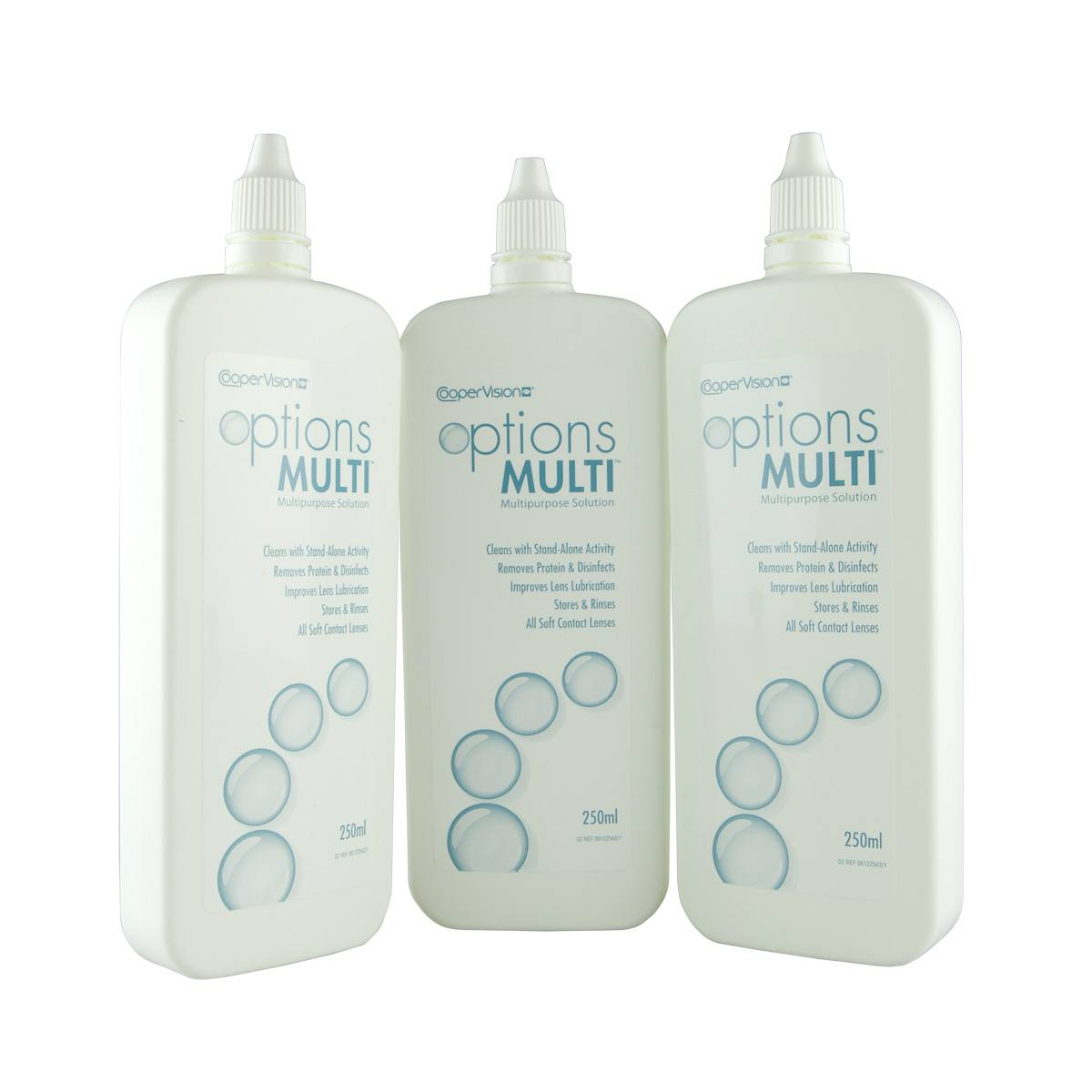 CooperVision Options Multi (3*250ml), Contact Lens Solution, Triple Pack, Includes Case