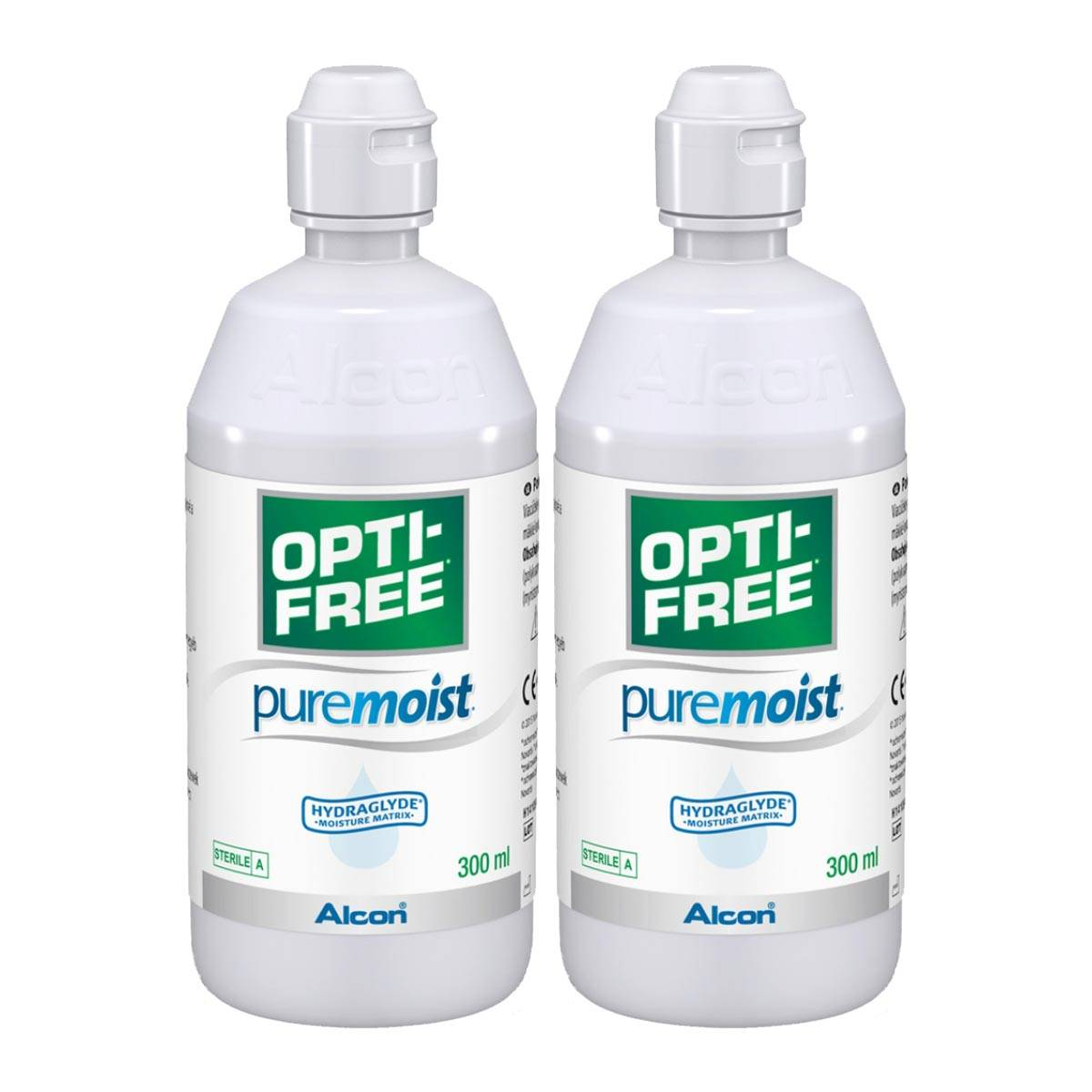 Alcon Opti-Free Puremoist Twin Pack (2*300ml), Alcon, Contact Lens Solution, Includes 2 Lens Cases