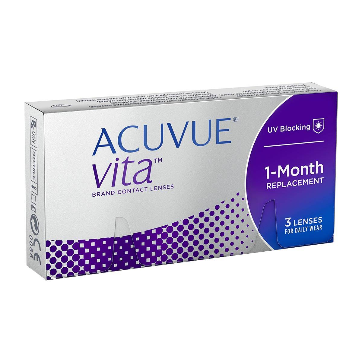 Acuvue Vita (3 Contact Lenses), Monthly Disposables by Johnson & Johnson, Silicone Hydrogel