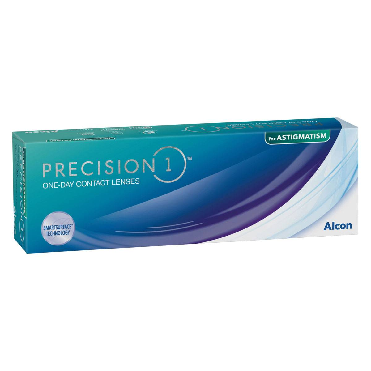 Alcon Precision 1 for Astigmatism (30 Contact Lenses), Alcon, Toric Daily Disposables, Silicone Hydrogel