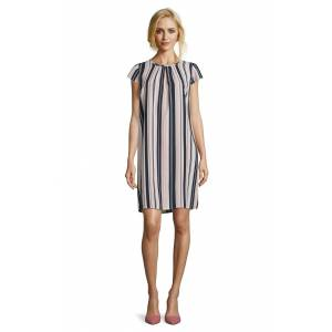 Betty Barclay Ladies Betty Barclay Vertical Stripe Dress  - Pink - Size: 36