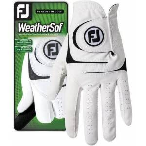 Footjoy WeatherSof Mens Golf Glove White Left Hand for Right Handed Golfers S
