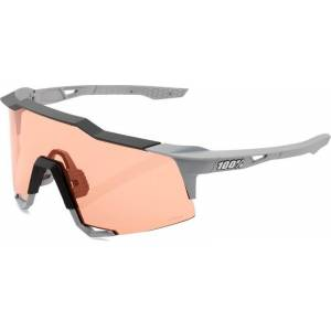 100% Speedcraft Soft Tact Stone Grey / HiPER Coral Lens