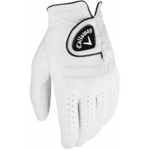 Callaway Tour Autentic Mens Golf Glove White Right Hand for Left Handed Golfers M