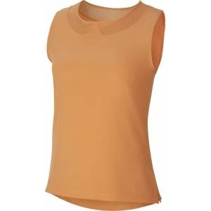 Nike Flex ACE Top Sleeveless Womens Polo Shirt Orange Trance/Orange Trance S