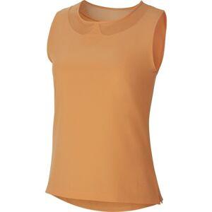 Nike Flex ACE Top Sleeveless Womens Polo Shirt Orange Trance/Orange Trance XS  - Orange - female - Size: XS