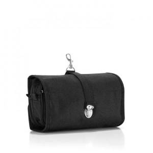 Black Wrapcosmetic Cosmetic Make Up Travel Organiser Toiletry Bag with Shoulder Strap