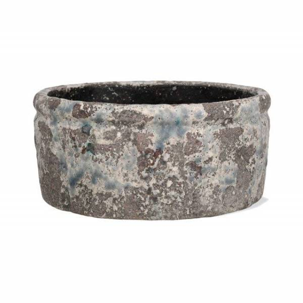 Garden Trading Withington Rustic Weathered Indoor Planter Plant Pot Bowl, 18.5cm Garden Trading