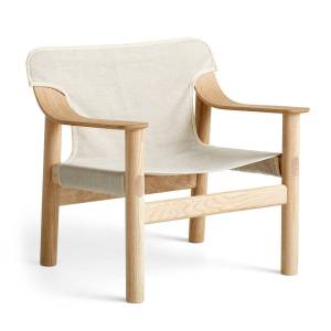 HAY - Bernard armchair, oak matt lacquered / canvas raw