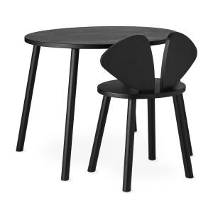 Nofred - (junior mouse school set - chair and table), black