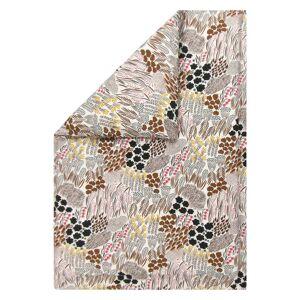 Marimekko - Pieni letto blanket cover 140 x 200 cm, off-white / brown / green