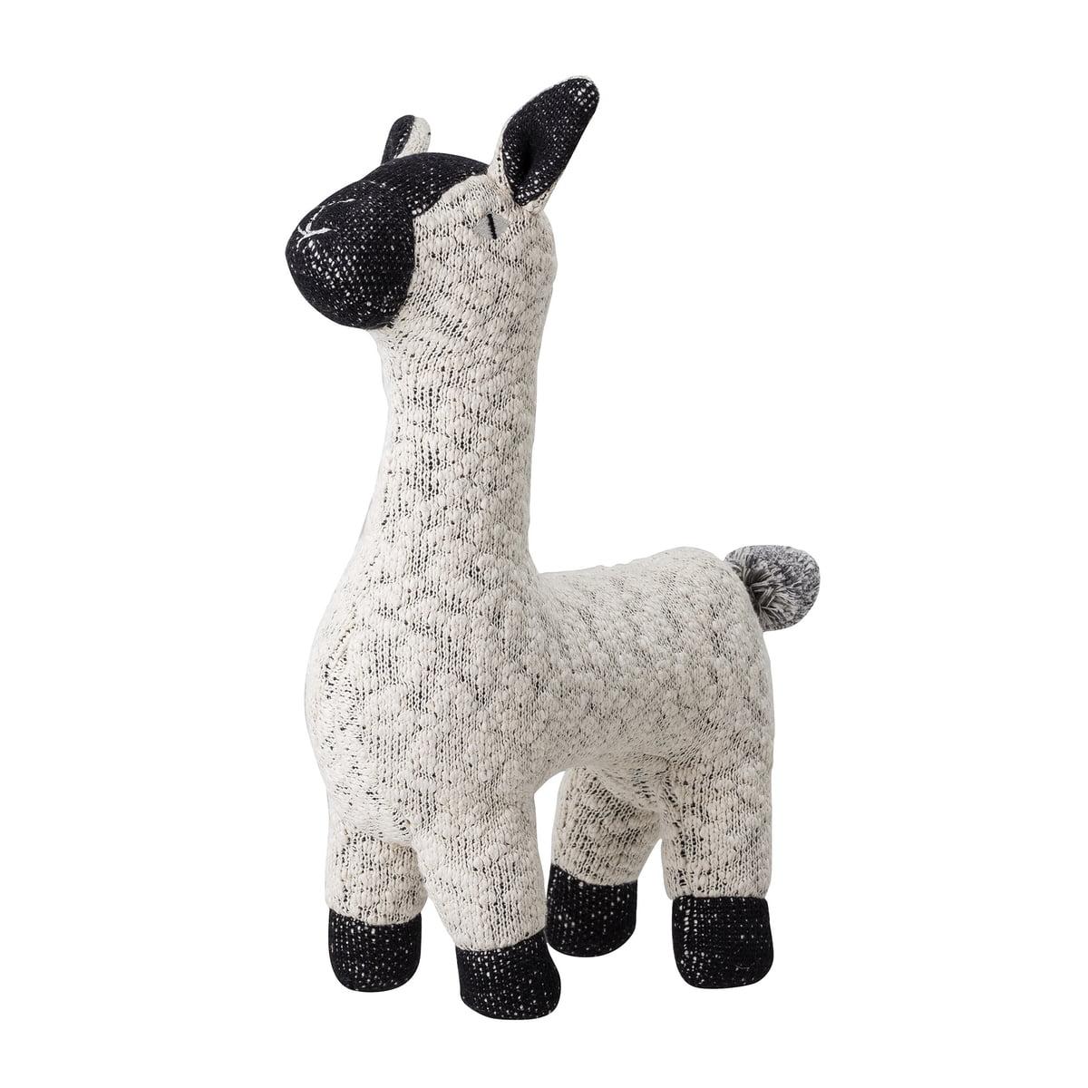 Bloomingville - Cuddly toy alpaca, white / black
