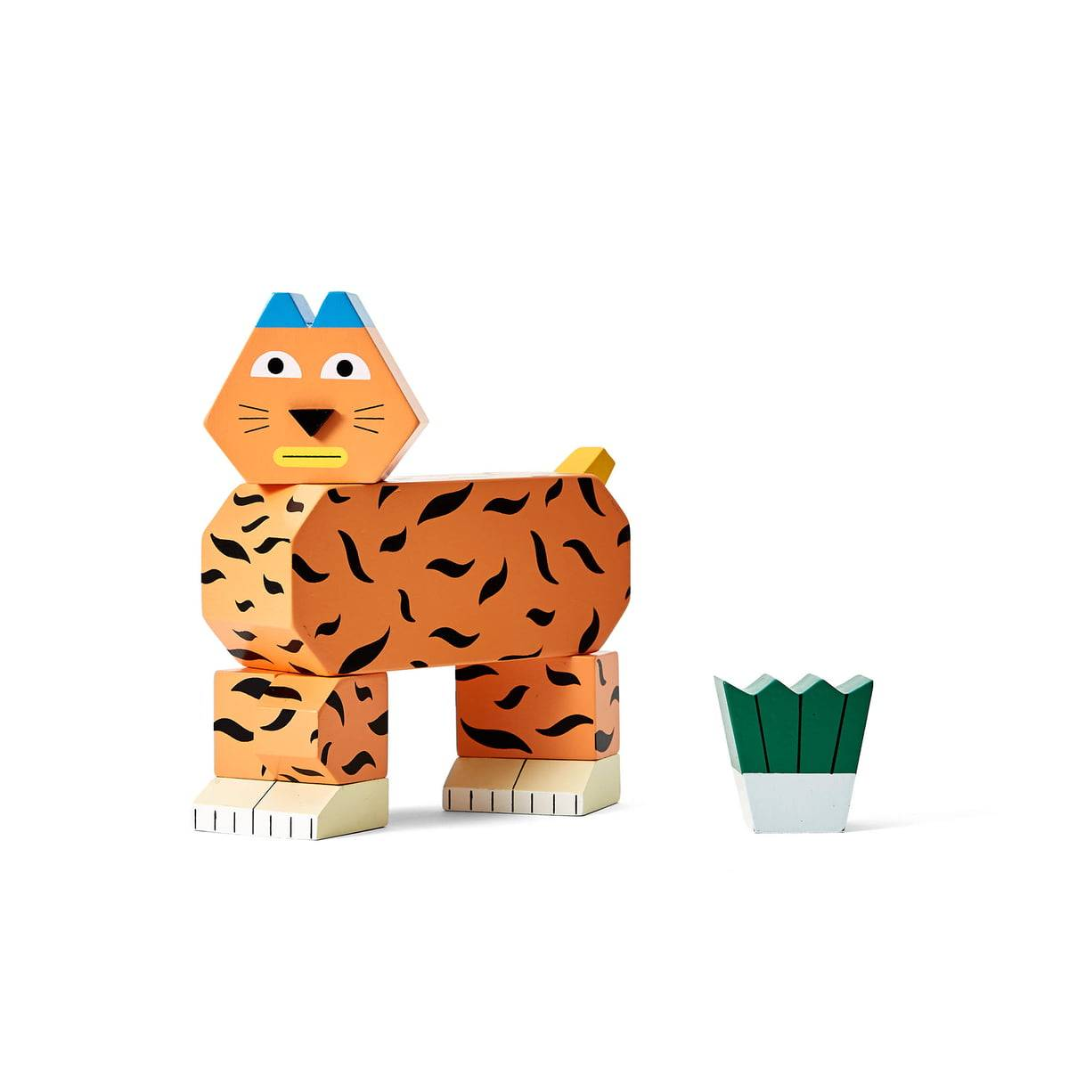 Areaware - Block Party Wooden toy, Tiger