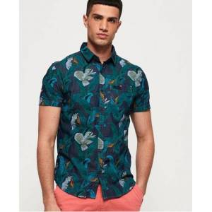 Superdry Miami Loom Shirt in Blue (Size: M)