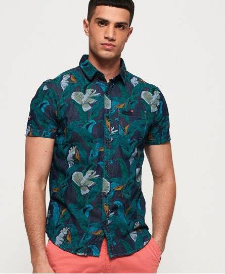 Superdry Miami Loom Shirt in Blue (Size: L)