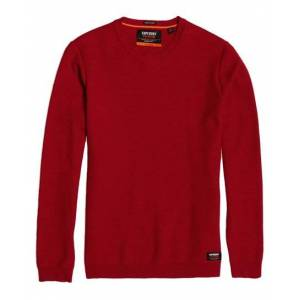 Superdry Supima® Cotton Crew Jumper in Red (Size: XXXL)