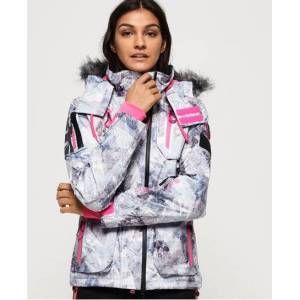 Superdry Ultimate Snow Action Jacket in Light Grey (Size: 10)