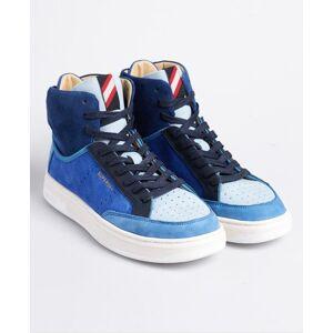 Superdry Premium Basket Lux Trainers in Dark Blue (Size: 3)