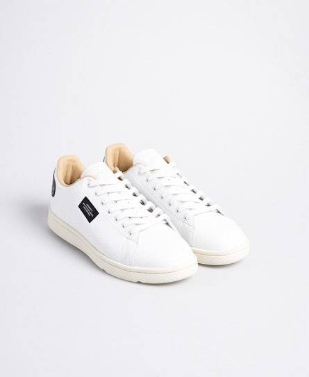 Superdry Vintage Tennis Trainers in White (Size: 9)