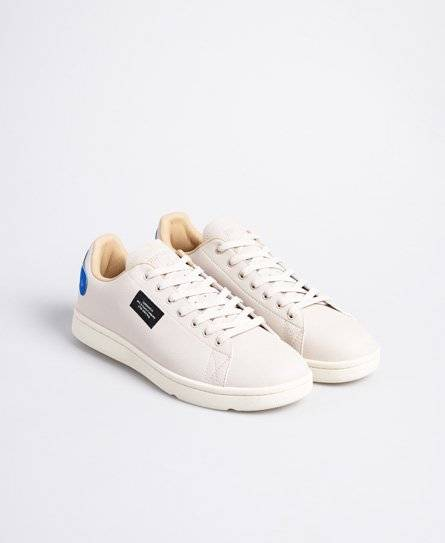 Superdry Vintage Tennis Trainers in Cream (Size: 8)