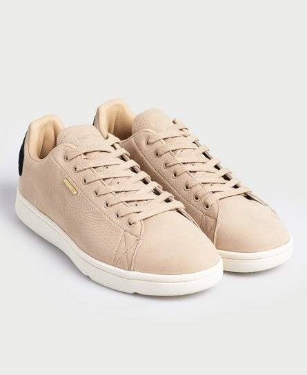 Superdry Premium Vintage Tennis Trainers in White (Size: 7)