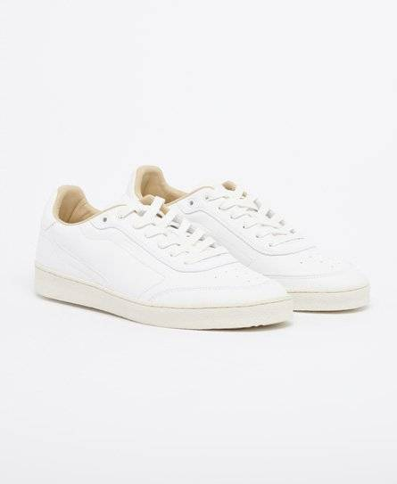 Superdry Premium Sleek Trainers in White (Size: 8)
