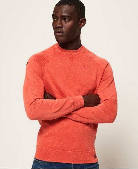 Superdry Garment Dye L.A. Crew Jumper in Orange (Size: S)