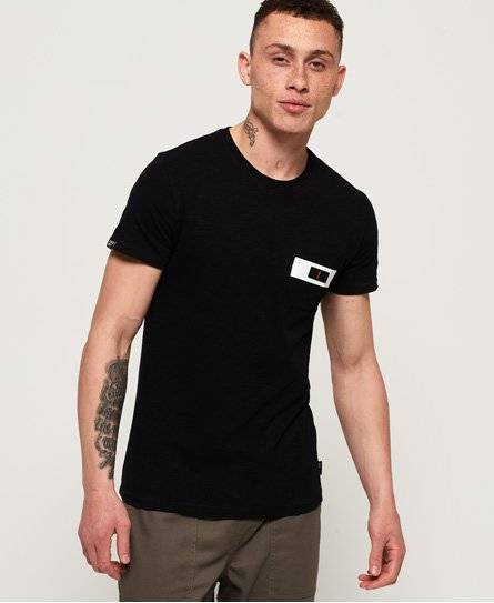 Superdry Surplus Goods Short Sleeve Pocket T-Shirt in Black (Size: XS)