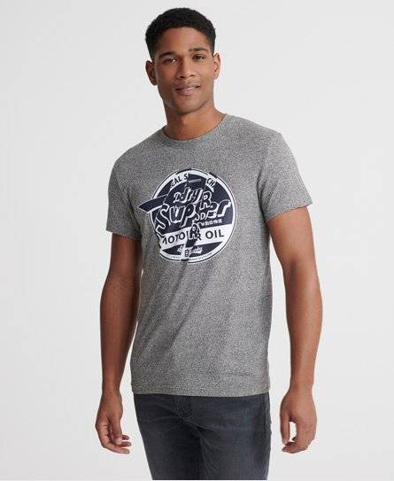 Superdry Brand Language T-shirt in Light Grey (Size: XXL)