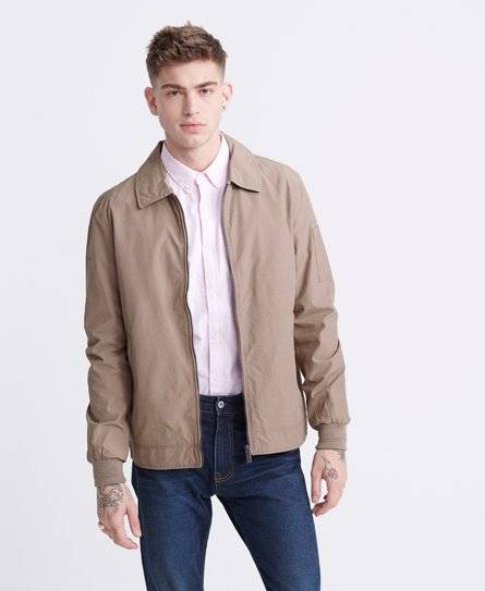 Superdry Collared Harrington Jacket in Beige (Size: L)