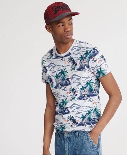 Superdry All Over Print Floral T-Shirt in Grey (Size: L)