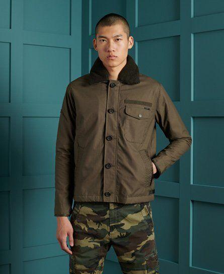 SUPERDRY Waxed Field Deck Jacket in Brown (Size: XXXL)