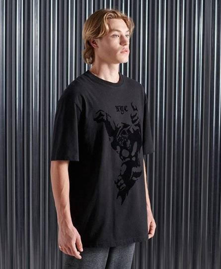 Superdry Mono Urban NYC T-Shirt in Black (Size: S)