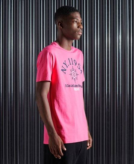 Superdry Yacht Prep T-Shirt in Pink (Size: M)