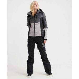 Superdry Kiso Padded Racer Jacket in Grey (Size: 6)