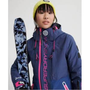 Superdry Slalom Slice Ski Jacket in Navy (Size: 6)