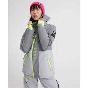Superdry Slalom Slice Ski Jacket in Grey (Size: 6)