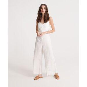 Superdry Eden Linen Jumpsuit in White (Size: 10)