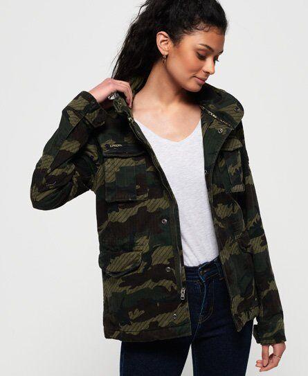 Superdry Jade Rookie Pocket Jacket in Green (Size: 10)