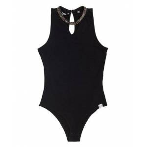 Superdry Lucie Embellished Bodysuit in Black (Size: XS)