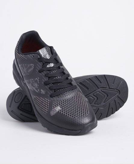 Superdry Active Sport Low Trainers in Black (Size: 6)