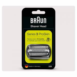 Braun Series 3 32B Electric Shaver Head Replacement, Black